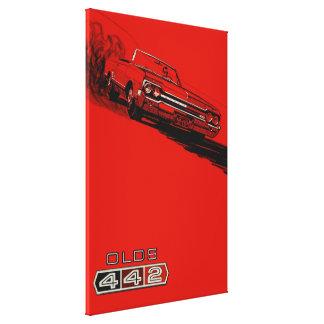 1964年のOldsmobile 442のヴィンテージポスター再生 キャンバスプリント