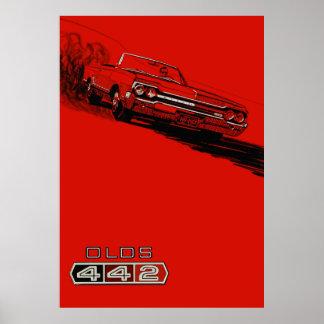 1964年のOldsmobile 442のヴィンテージポスター再生 ポスター