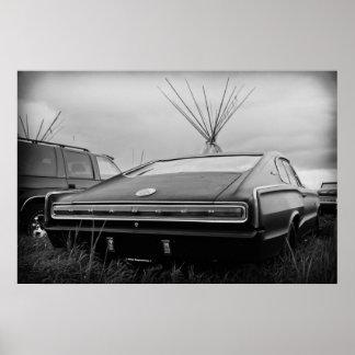 1966のごまかしの充電器(B/W) ポスター