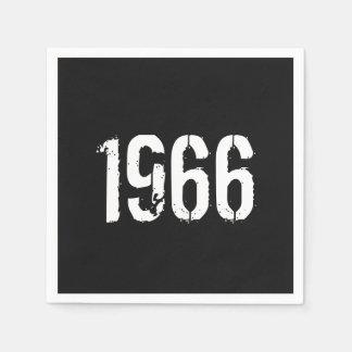 1966の誕生日年に生まれて下さい スタンダードカクテルナプキン