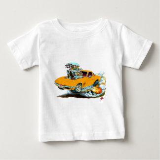 1966-67年のコルベットのオレンジ車 ベビーTシャツ
