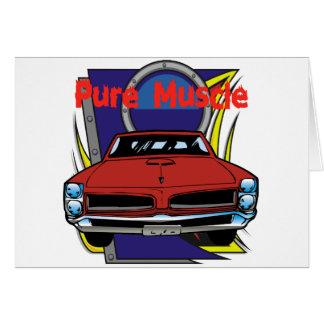 1966 GTO筋肉車 グリーティングカード