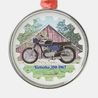 1967年のクラシックなオートバイYamaha メタルオーナメント
