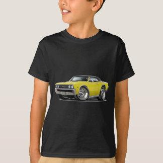 1967年のChevelleの黄色く黒い上 Tシャツ