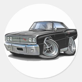 1967年のCoronet RTの黒い車 ラウンドシール