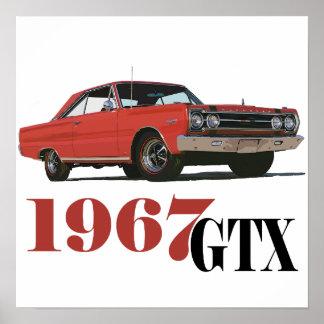1967赤いGTX ポスター