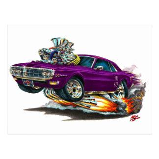 1967-68年のFirebirdの紫色車 ポストカード