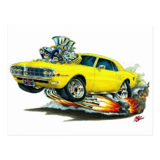 1967-68年のFirebirdの黄色い車 ポストカード