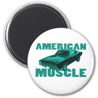 1968ごまかしの充電器r/tアメリカ筋肉青 マグネット