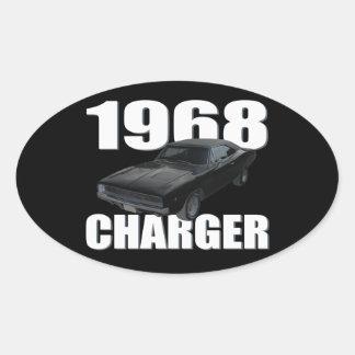 1968のごまかしの充電器rt 楕円形シール