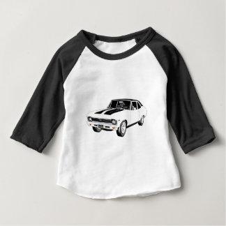1968の白筋肉車 ベビーTシャツ