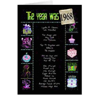 1968の誕生日のおもしろい事実 カード