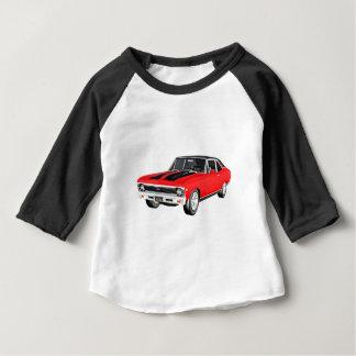 1968の赤筋肉車 ベビーTシャツ