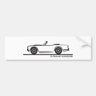 1968勝利TR4 バンパーステッカー