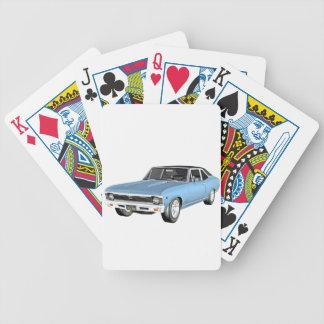 1968台の淡いブルーの筋肉車 バイスクルトランプ