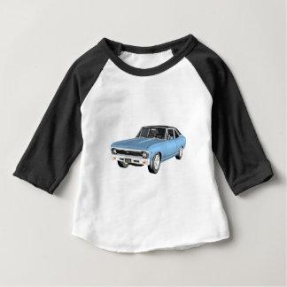 1968台の淡いブルーの筋肉車 ベビーTシャツ