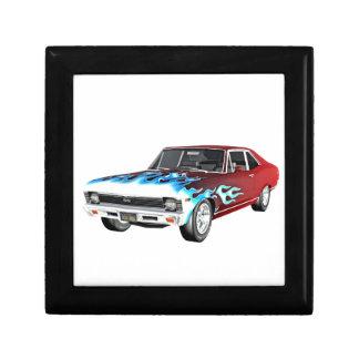 1968台の赤く白くおよび青筋肉車 ギフトボックス
