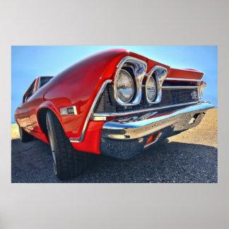 1968年のシボレーChevelle SS 396 ポスター