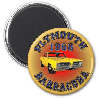 1968年のプリマスバラクーダの磁石 マグネット