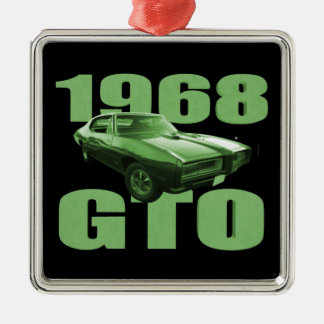 1968年のポンティアクGTO筋肉車の緑 メタルオーナメント