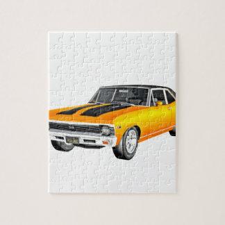 1968年の金ゴールド筋肉車 ジグソーパズル