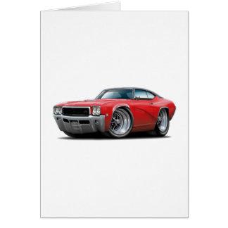 1968年のBuick GSの赤黒い上車 カード