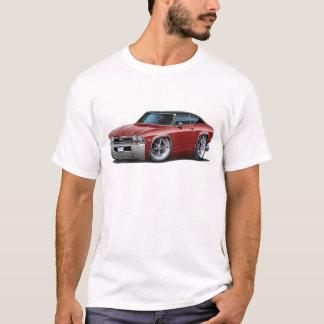 1968年のChevelleのあずき色黒い上 Tシャツ