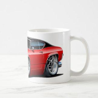 1968年のChevelleの赤い黒のストライプ コーヒーマグカップ