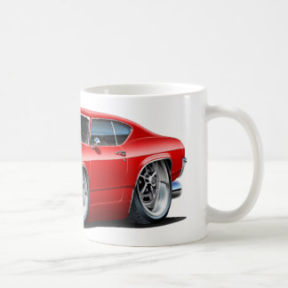 1968年のChevelleの赤車 コーヒーマグカップ