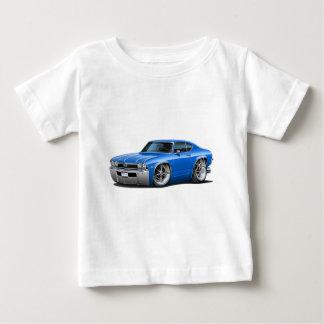 1968年のChevelleの青車 ベビーTシャツ