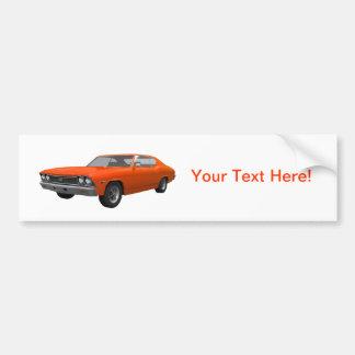 1968年のChevelle SS: オレンジ終わり バンパーステッカー