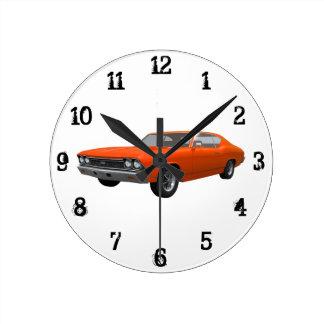 1968年のChevelle SS: 柱時計 ラウンド壁時計