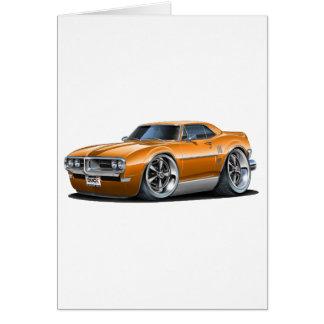 1968年のFirebirdのオレンジ車 カード