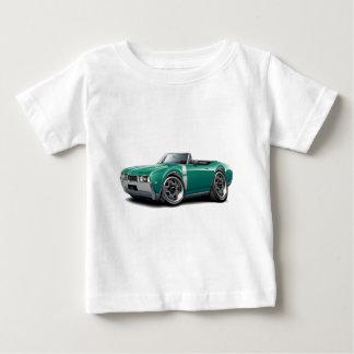 1968年のOlds 442のティール(緑がかった色)白のコンバーチブル ベビーTシャツ
