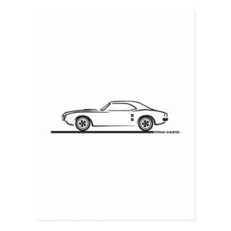1968年のPontiac Firebird ポストカード