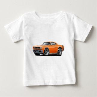 1968極度の蜂のオレンジ黒く広いストライプ ベビーTシャツ
