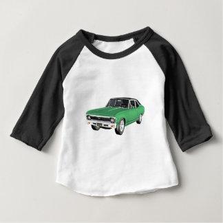 1968緑筋肉車 ベビーTシャツ