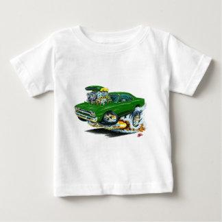 1968-69年のプリマスGTXの緑車 ベビーTシャツ