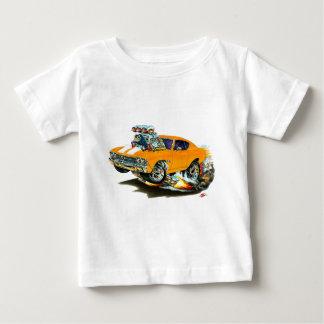 1968-69年のChevelleのオレンジ白の車 ベビーTシャツ