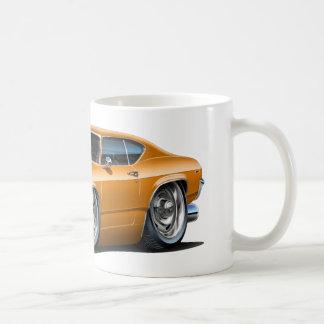 1968-69年のChevelleのオレンジ車 コーヒーマグカップ