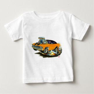 1968-69年のChevelleのオレンジ黒い車 ベビーTシャツ