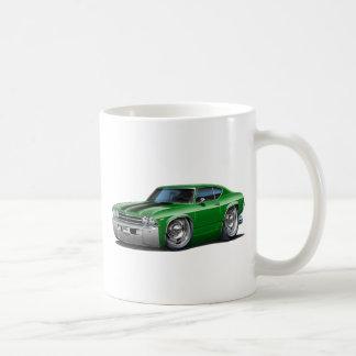 1968-69年のChevelleの緑黒い車 コーヒーマグカップ