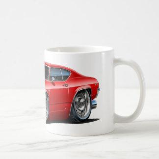 1968-69年のChevelleの赤黒い車 コーヒーマグカップ
