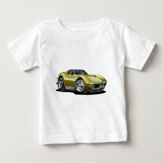 1968-72年のコルベットの金ゴールド車 ベビーTシャツ
