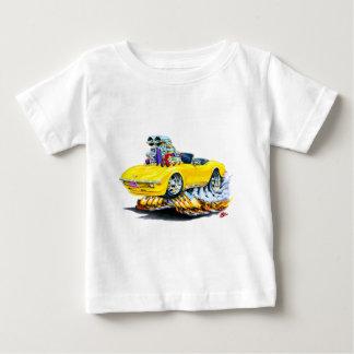 1968-72年のコルベットの黄色いコンバーチブル ベビーTシャツ