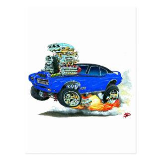 1968 GTOの青車 ポストカード