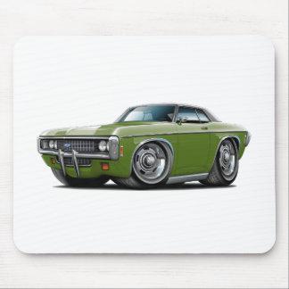 1969年のインパラのフロストの緑黒い上車 マウスパッド