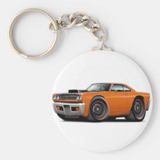 1969年のロードランナーのオレンジ黒いフードのスコップ車 キーホルダー