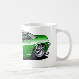1969年のCamaroの緑黒い上車 コーヒーマグカップ