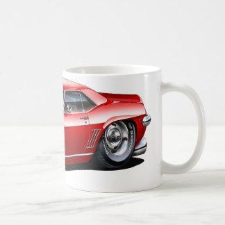 1969年のCamaroの赤黒い車 コーヒーマグカップ